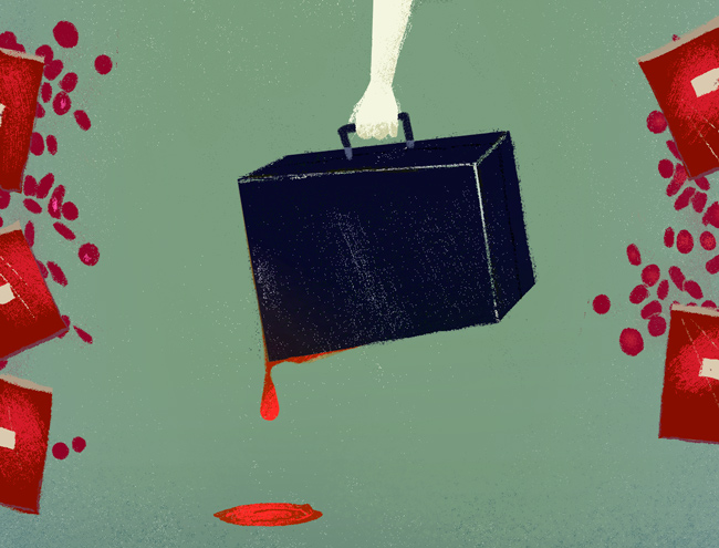 blood case illustration